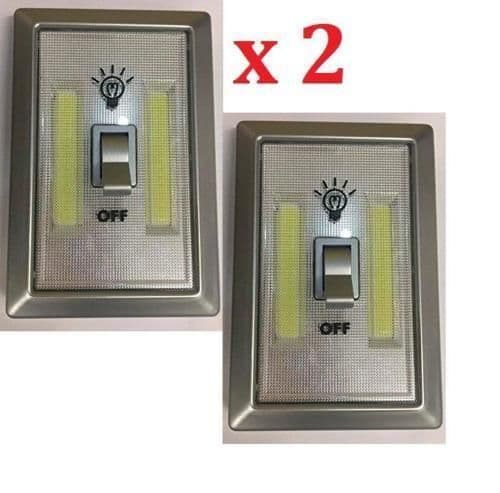 4 LED Battery Light Switches